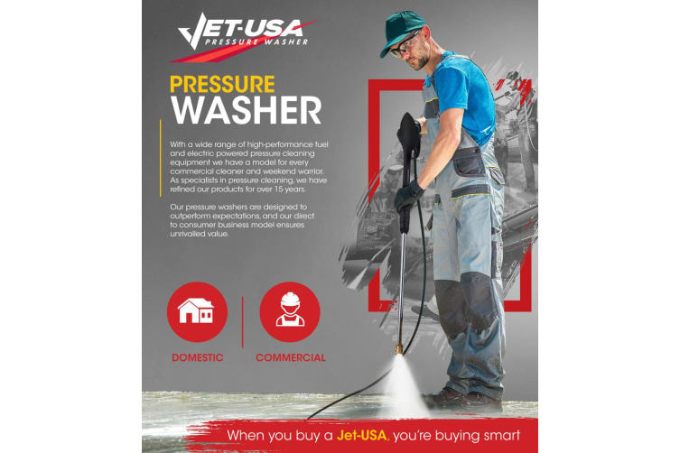 Jet-USA 4800PSI High Pressure Washer Cleaner - Ultimate Edition - Water Petrol