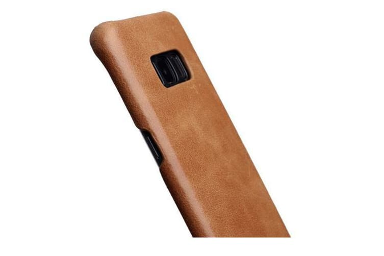 For Samsung Galaxy S8 PLUS Case Elegant Genuine Protective Leather Cover Brown