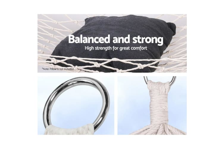 Cotton Rope Swing Hammock Bed Outdoor Hanging Camping Hammocks Chair