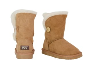 OZWEAR Connection Classic Button Ugg Boots (Chestnut)