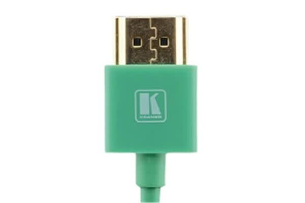 Kramer Ultra Slim High Speed HDMI Flexible Cable with Ethernet - 91.44cm - Green