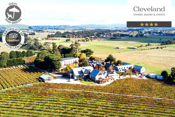 MACEDON RANGES: 2 Nights at Cleveland Winery Resort, Lancefield for Two (Standard Room)