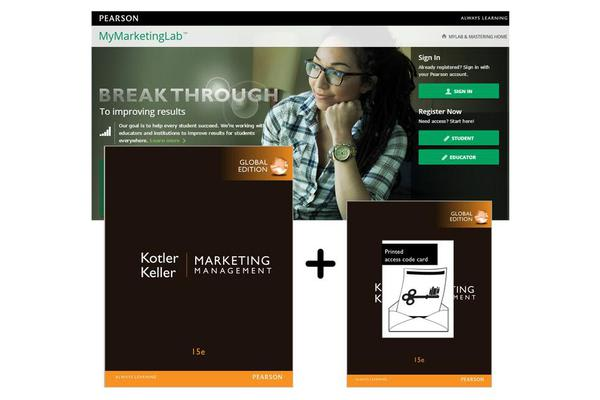 Value Pack Marketing Management Global Edition + MyMarketingLab with eText