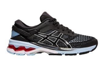 ASICS Women's Gel-Kayano 26 Running Shoe (Black/Heritage Blue, Size 8 US)