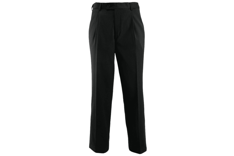 Alexandra Mens Icona Single Pleat Formal Work Suit Trousers (Black) (32T)