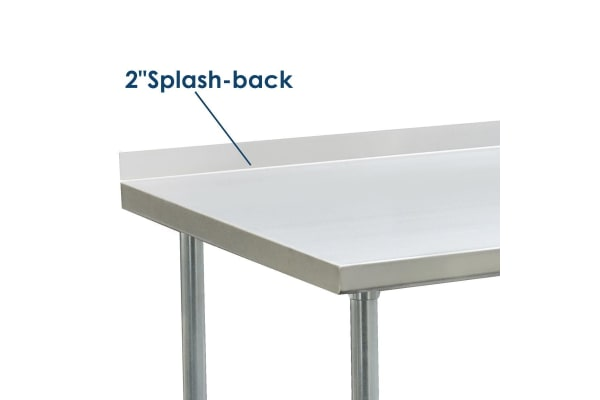 Stainless Steel Kitchen Work Bench Food Prep Table 213cm X 61cm