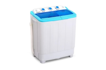 Devanti 5KG Portable Washing Machine Twin Tub Top Loader Camping Outdoor Caravan