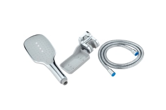 Spray And Pressurized Shower With Multifunctional Shower Shower Nozzle - 2 Silver