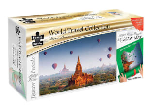 Scenic Locations - Temples In Bagan Myanmar 1000 Piece Puzzle with Puzzle Mat