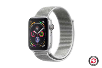 Apple Watch Series 4 Refurbished (Silver, 44mm, Seashell Sport Loop, GPS Only) - A Grade