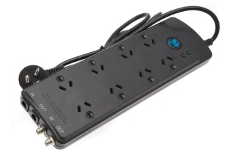 Jackson 8 Outlet Surge Protected Entertainment Powerboard (PT8012)