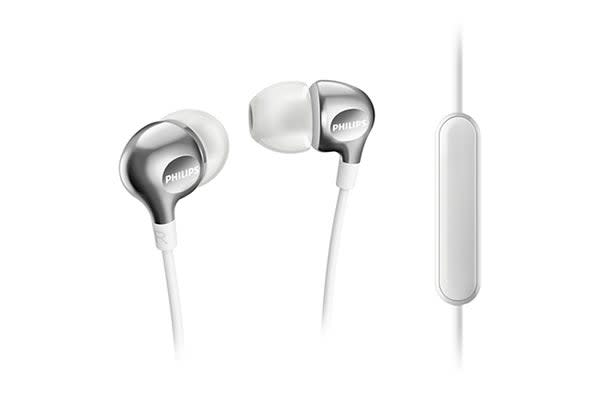 Philips In-EarGel Headphones with Mic - White (SHE3705WT)