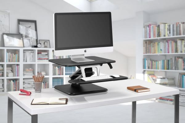 Kogan Sit to Stand Desk Riser (Compact, Black)