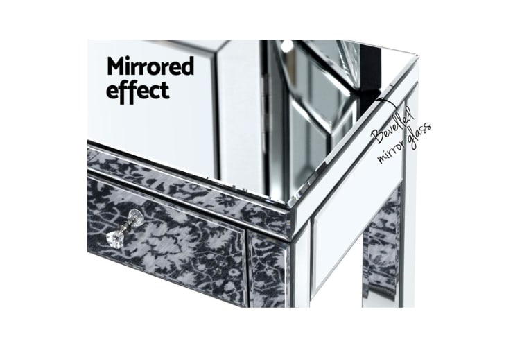 Artiss Mirrored Furniture Dressing Console Table Hallway Hall Sidebaord Drawers