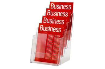 Esselte 4 Tier A5 Brochure Holder Catalogue/Pamphlet/Flyer Display Free Stand