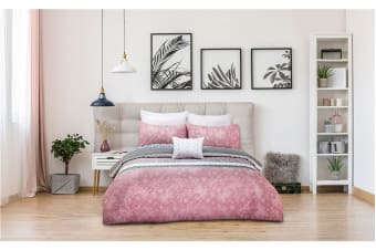 Ardor Boudoir Aiko Embossed Quilt Cover Set (Queen)