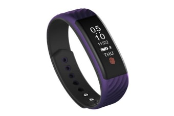 Bluetooth V4.0 Fitness Tracker Watch Rechargeable Heart Rate Monitor Ip67 Purple