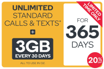 Kogan Mobile Prepaid Voucher Code: SMALL (365 Days | 3GB Per 30 Days) - 20% Off