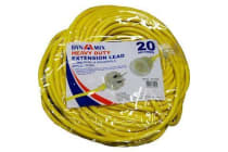 Dynamix PEXT-HD20 20M Heavy Duty Power Extension Lead. Supplied in Retail Packaging.