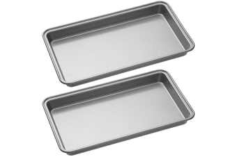 2PK Mastercraft Non-Stick Brownie Cookie Biscuit Baking Mould Bakeware Pan Tray