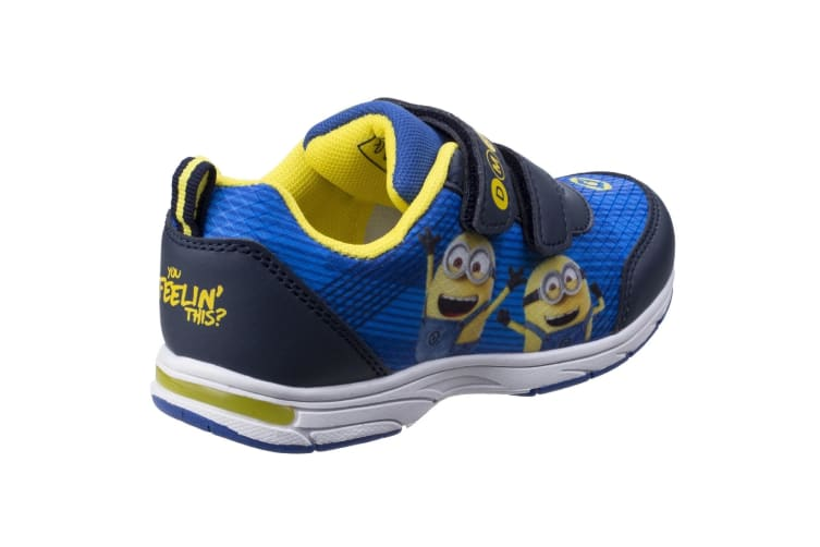 Leomil Childrens/Kids Minions Touch Fastening Trainer (Blue/Yellow) (10 Child UK)