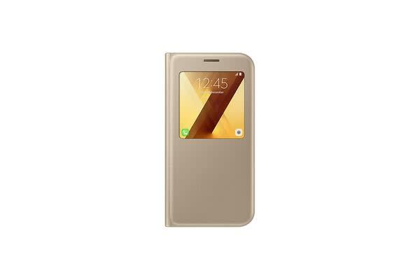 Samsung Galaxy A7 (2017) View Standing Cover Gold