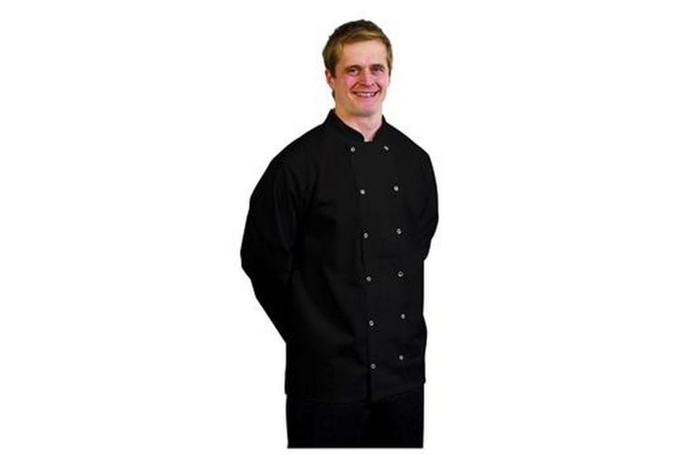 BonChef Adults Danny Long Sleeved Chef Jacket (Black) (M)
