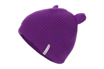 Trespass Childrens/Kids Toot Knitted Winter Beanie Hat (Plum)