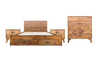 Cob&Co King Bedroom Suite (Rustic Wood)