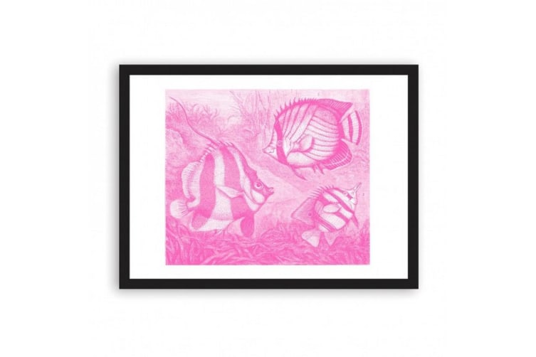 Ohh Deer Fish A3 Riso Print (Pink/White) (One Size)