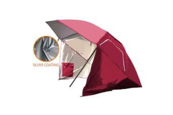 8FT Portable All-Weather Shelter Umbrella Tent RED