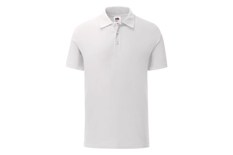Fruit Of The Loom Mens 65/35 Tailored fit polo (White) (3XL)