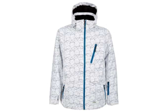 Trespass Mens Persis Waterproof Ski Jacket (White Print) (L)