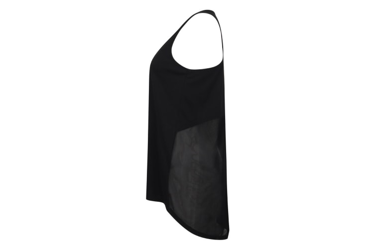 Tombo Womens/Ladies Open Back Vest (Black) (2XL)