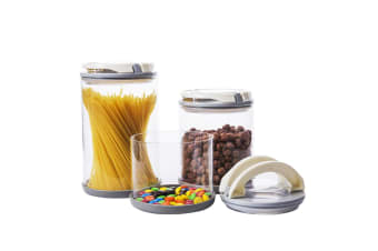 Gourmet Kitchen 3 Piece Glass Jar Set