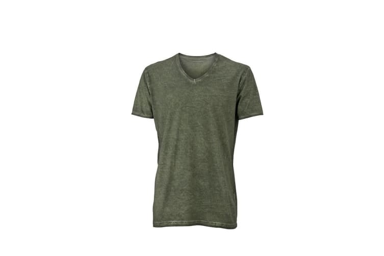 James and Nicholson Mens Gipsy T-Shirt (Dusty Olive) (XL)