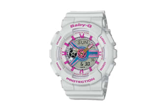 Casio Baby-G Analog Digital Female Watch with Resin Band - White (BA110NR-8A)