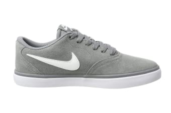 Nike SB Check Solarsoft Men's Skateboarding Shoe (Grey/White, Size 6.5 US)