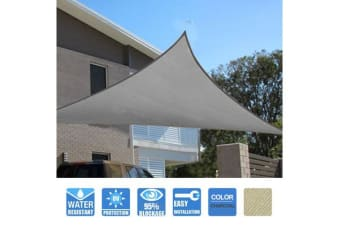 Triangle Sail Shade - Charcoal 3.6x3.6x3.6m 180GSM