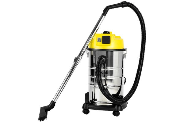 Pronti 30L 1200W Stainless Steel Wet Dry Vacuum Cleaner - Yellow