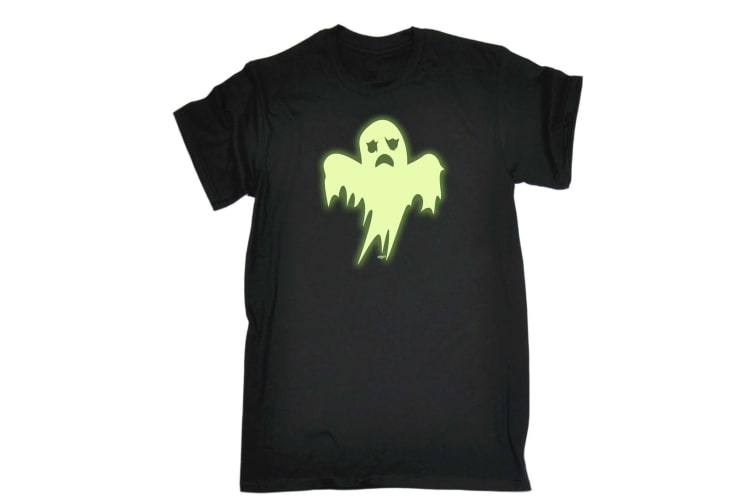 123T Funny Tee - Ghost Glow In The Dark - (XX-Large Black Mens T Shirt)