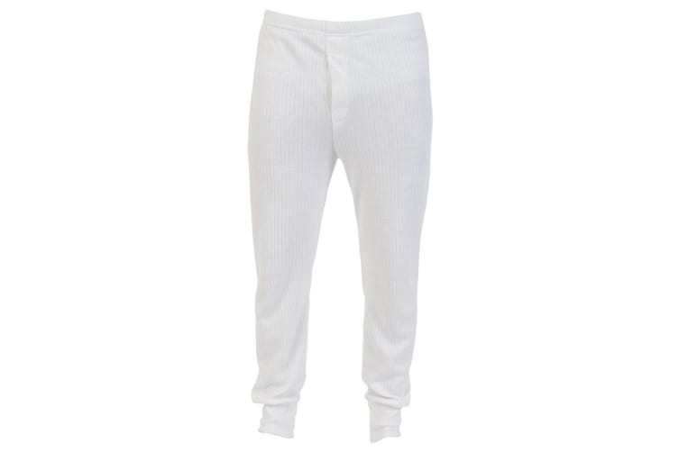 Absolute Apparel Mens Thermal Long Johns (White) (XL)