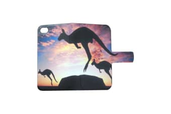 For iPhone 6S 6 Wallet Case Stylish Custom-Made Kangaroo Durable Leather Cover
