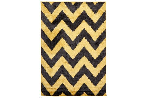 Ziggy Shag Rug Yellow Charcoal 330x240cm