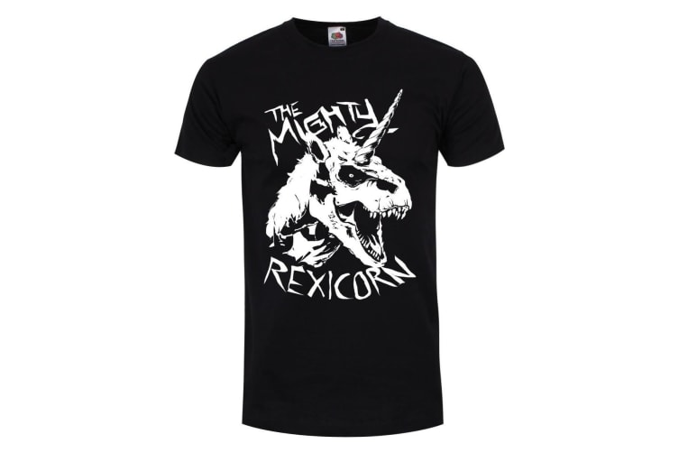 Grindstore Mens The Mighty Rexicorn T-Shirt (Black) (L)
