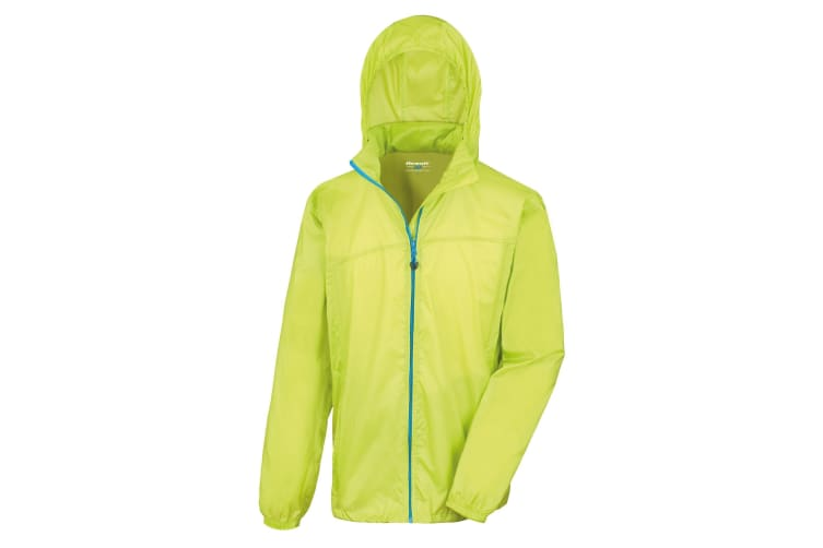 Result Unisex HDi Quest Hydradri Lightweight Waterproof Jacket (Lime / Royal) (S)
