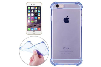 For iPhone 6S 6 Case Strong Transparent Durable Grippy Shielding Cover Blue