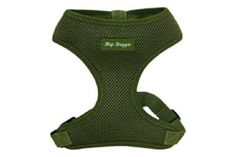 Hip Doggie Ultra Comfort Harness Vest (Olive Green)