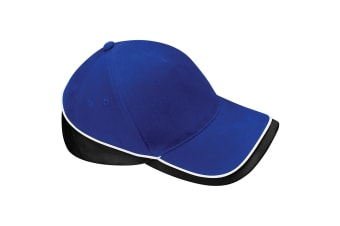 Beechfield Unisex Teamwear Competition Cap Baseball / Headwear (Pack of 2) (Bright Royal/White) (One Size)