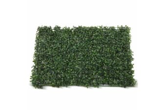 1x Artificial Boxwood Hedge Fake Vertical Garden Green Wall Mat Fence Outdoor  -  1 PCS
